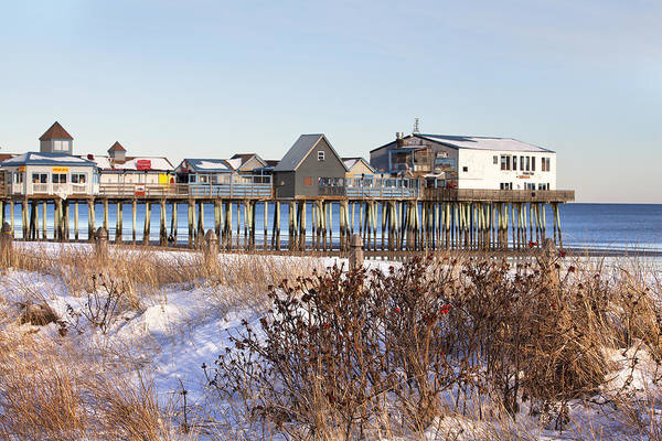 Wall Art - Photograph - Winter At Old Orchard Beach by Eric Gendron
