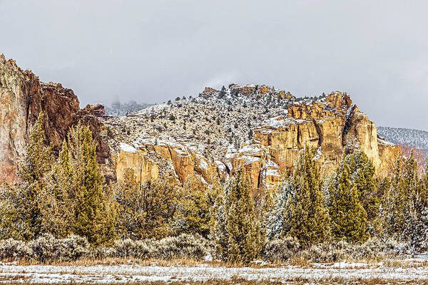 Photograph - Winter At Smith Rock by David Millenheft