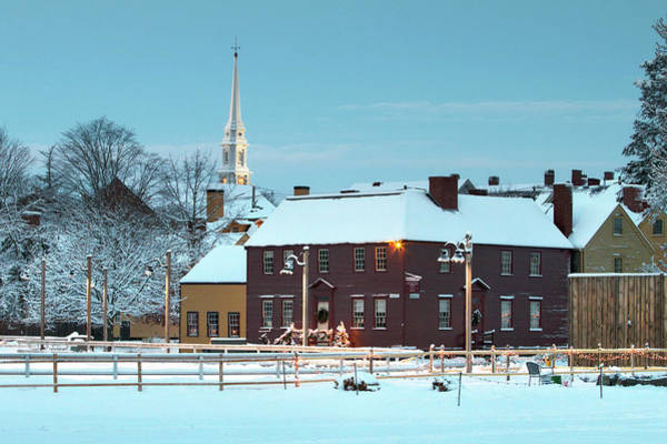 Wall Art - Photograph - Winter At Strawbery Banke Portsmouth by Eric Gendron