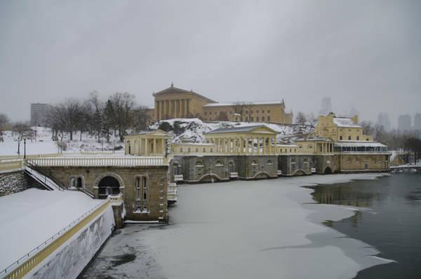 Philadelphia Phillies Digital Art - Winter At The Fairmount Waterworks In Philadelphia by Bill Cannon