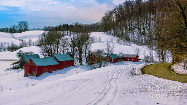 Photograph - Winter At The Jenne Farm by Scenic Vermont Photography
