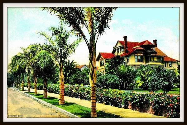 Mansion Mixed Media - Winter At The Williams Residence, Santa Barbara Ca, 1910 by Dwight GOSS
