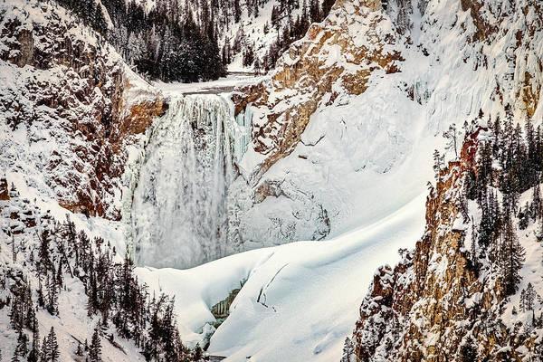 Photograph - Winter At Yellowstone Falls #2 by Stuart Litoff