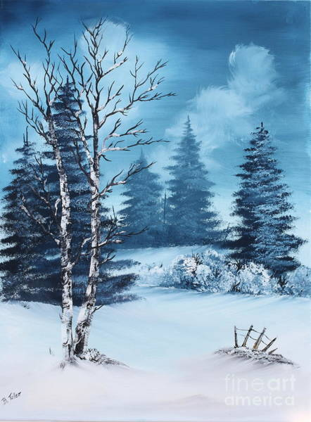 Wall Art - Painting - Winter by Barbara Teller