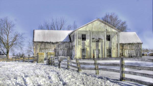 Photograph - Winter Barn 3 by Sam Davis Johnson