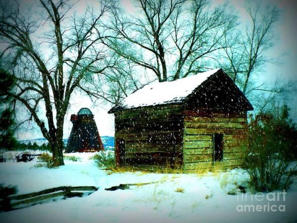 Photograph - Winter Barn And Silo by Carol Groenen