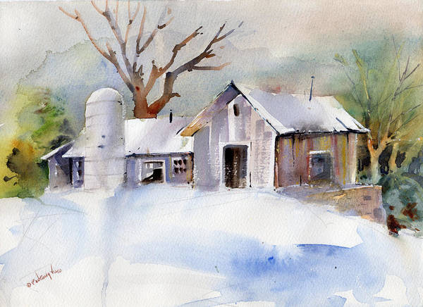 Painting - Winter Barn by P Anthony Visco