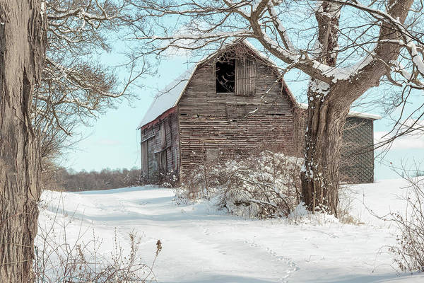 Photograph - Winter Barn by Rod Best