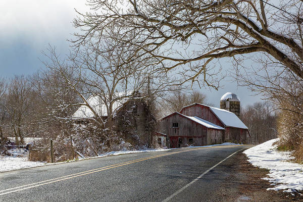 Photograph - Winter Barn by Sara Hudock