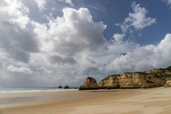 Photograph - Winter Beach - Clearing Storm On Praia Da Rocha Algarve Portugal by Georgia Mizuleva