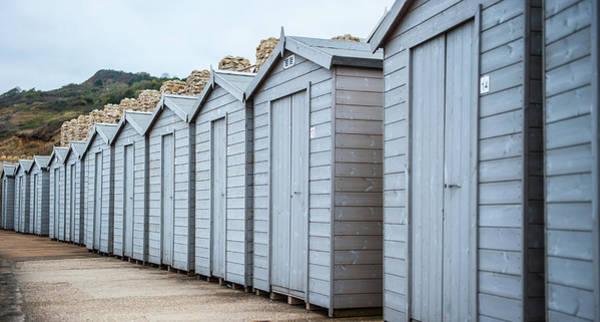 Photograph - Winter Beach Huts by Helen Northcott