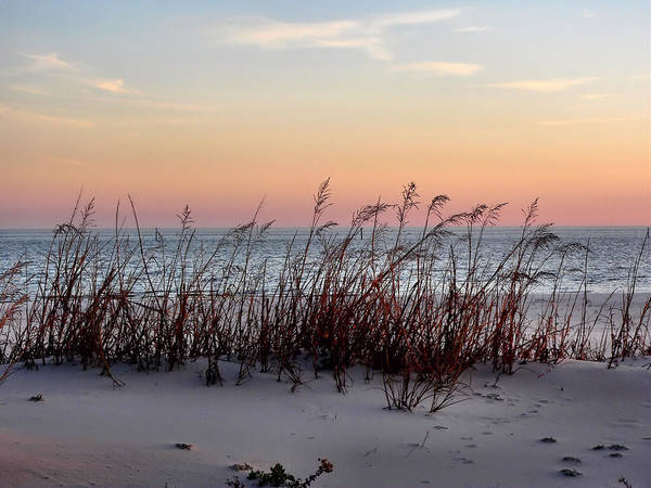 Photograph - Winter Beach Sunset by Kathy K McClellan