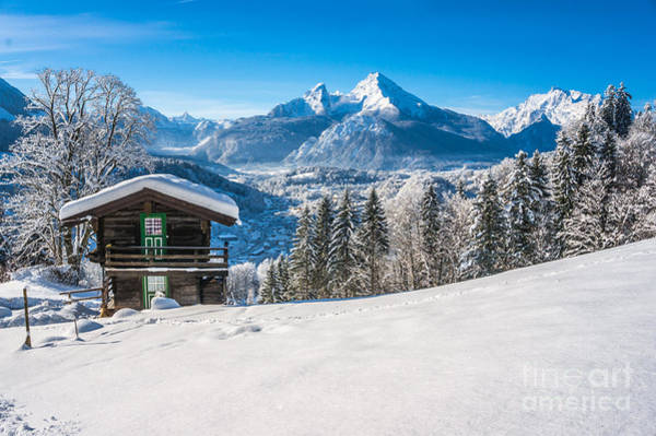 Wall Art - Photograph - Winter Beauty In Snowy Bavarian Alps by JR Photography