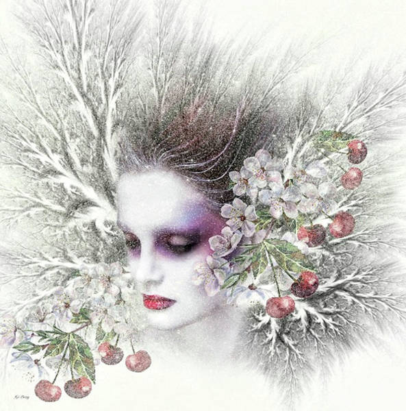 Season Mixed Media - Winter Berries 02 by G Berry