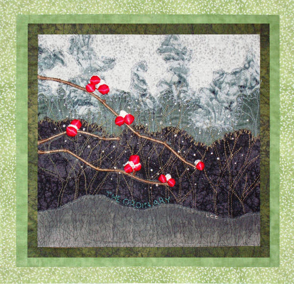 Wall Art - Tapestry - Textile - Winter Berries Quilt by Lee Baker DeVore
