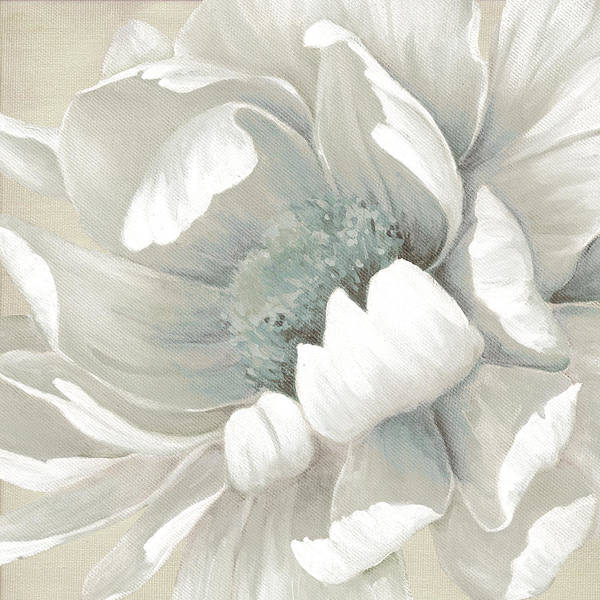 Neutral Wall Art - Painting - Winter Bloom 1 by Carol Robinson
