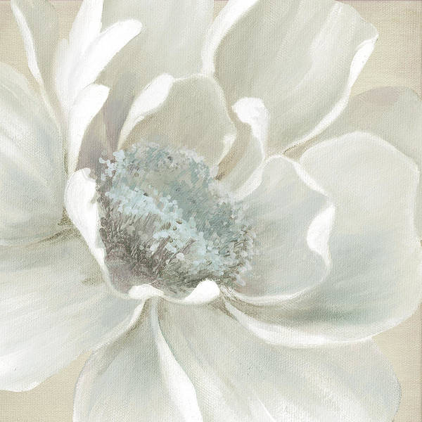 Neutral Wall Art - Painting - Winter Bloom 2 by Carol Robinson