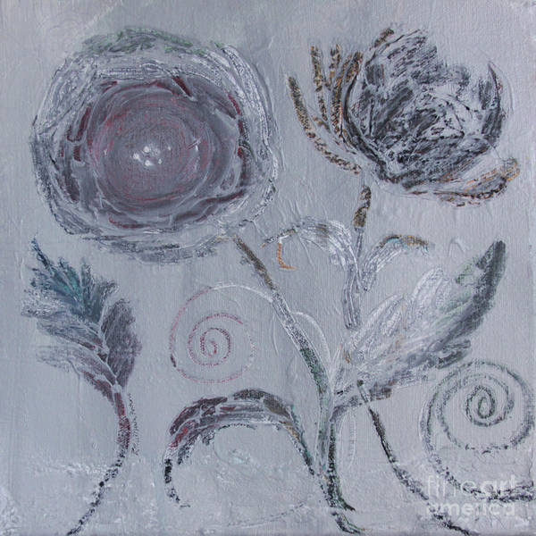 Painting - Winter Blooms by Robin Maria Pedrero
