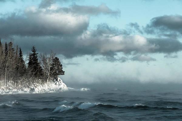 Lake Superior Photograph - Winter Blues by Mary Amerman