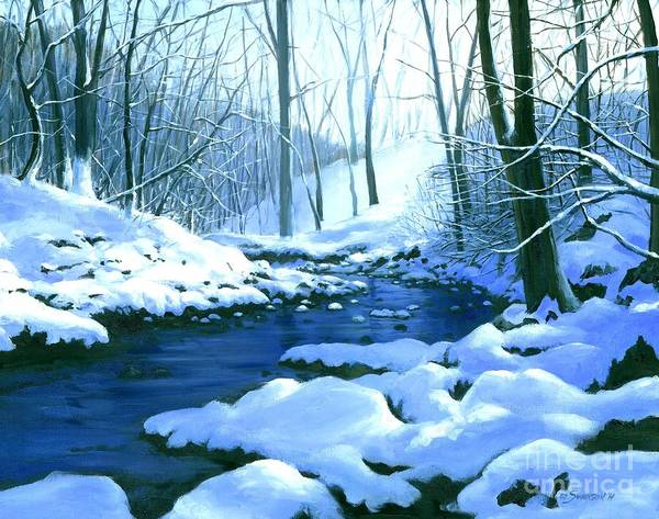 Wall Art - Painting - Winter Blues  by Michael Swanson