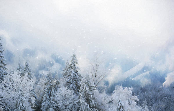 Painting - Winter Blues - Winter Art by Jordan Blackstone