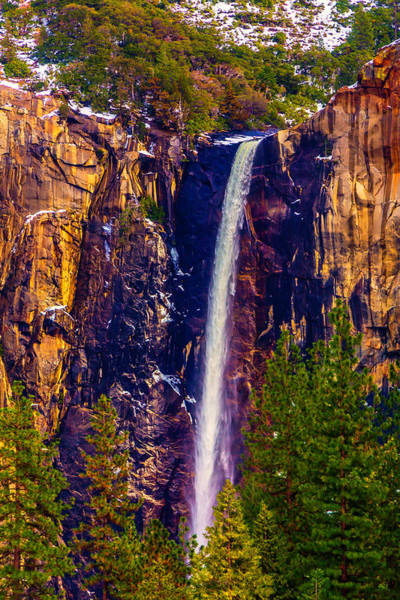 Winter Bridalveil Falls  Art Print