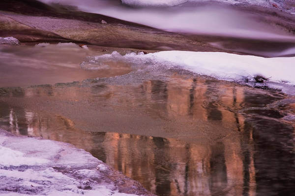 Photograph - Winter Brook Reflections by Tom Singleton