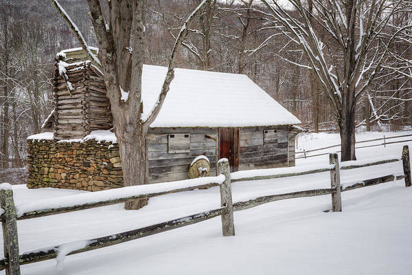 Photograph - Winter Cabin by Bill Wakeley