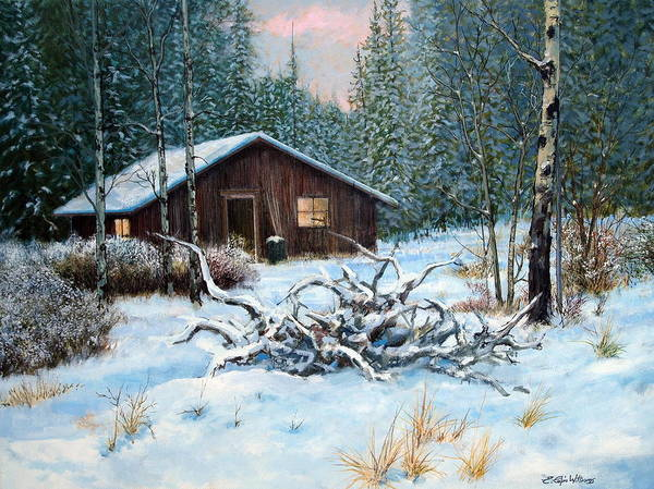 Painting - Winter Cabin by E Colin Williams ARCA