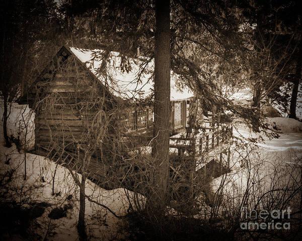 Digital Art - Winter Cabin by Kirt Tisdale
