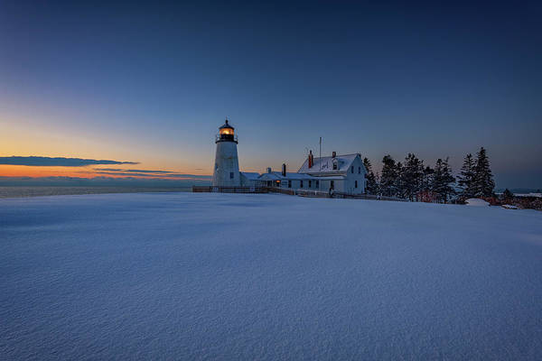 East Point Photograph - Winter Calm At Pemaquid Point by Rick Berk