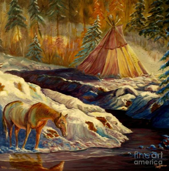 Mixed Media - Winter Camping by Philip Bracco