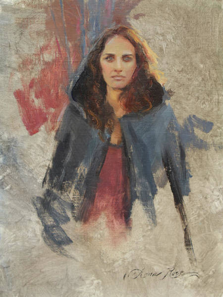 Melancholy Wall Art - Painting - Winter Cape by Anna Rose Bain
