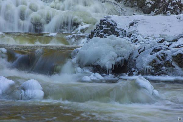 Photograph - Winter Cascade by John Meader