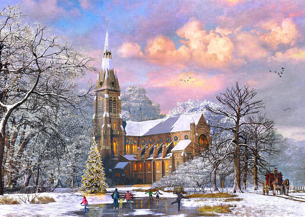 Christmas Tree Digital Art - Winter Cathedral by MGL Meiklejohn Graphics Licensing