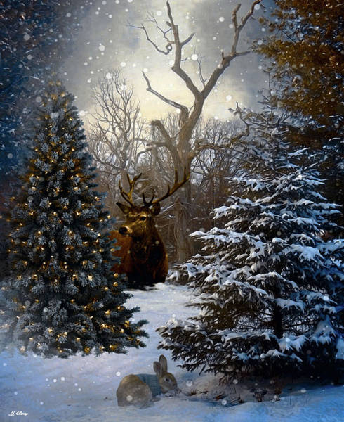 Season Mixed Media - Winter Chill 005 by G Berry