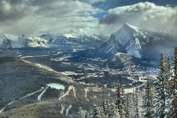 Photograph - Winter Clouds Of Banff Town by Adam Jewell