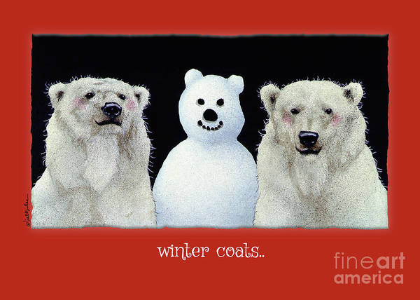 Painting - Winter Coats... by Will Bullas