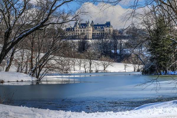 Photograph - Winter Comes To The Biltmore Mansion On The Hill by Carol Montoya
