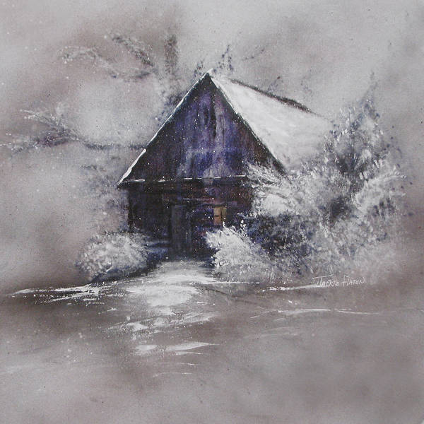 Painting - Winter Cottage by Jackie Flaten