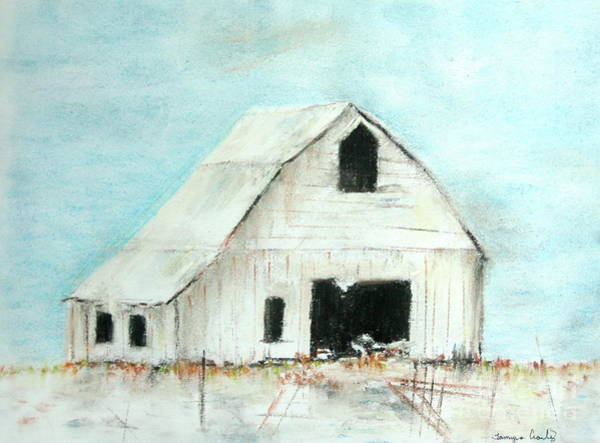 Painting - Winter Country Barn by Tamyra Crossley