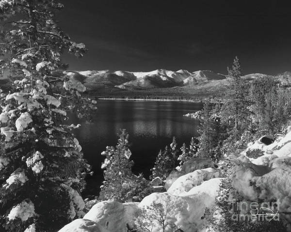 Wall Art - Photograph - Winter Cove Black And White 1 by Vance Fox