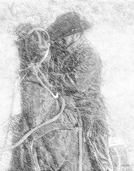 Photograph - Winter Cowboy by Amanda Smith