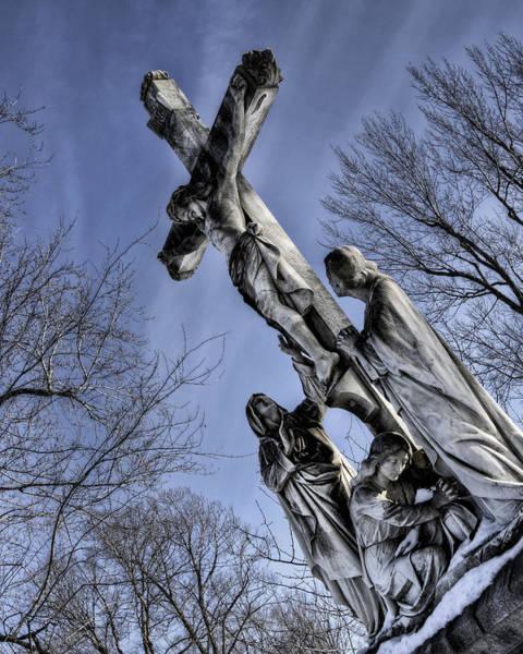 Photograph - Winter Crucifix by Patrick Groleau
