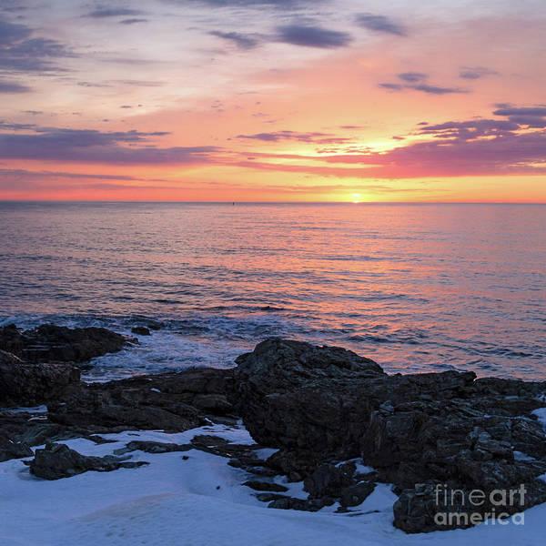 Photograph - Winter Daybreak, Ogunquit, Maine  -31122 by John Bald