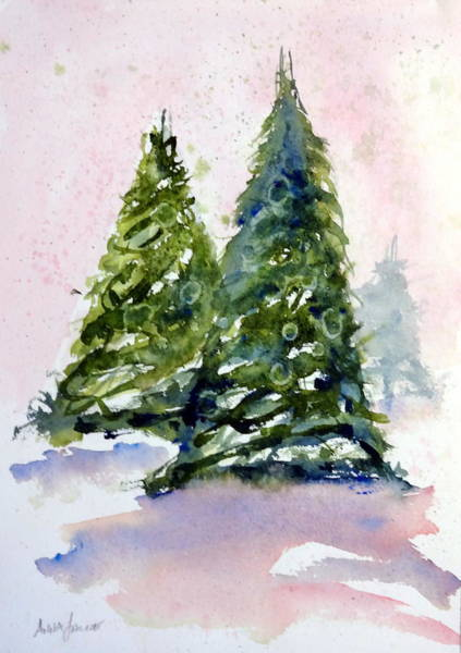 Painting - Winter Delight by Anna Jacke