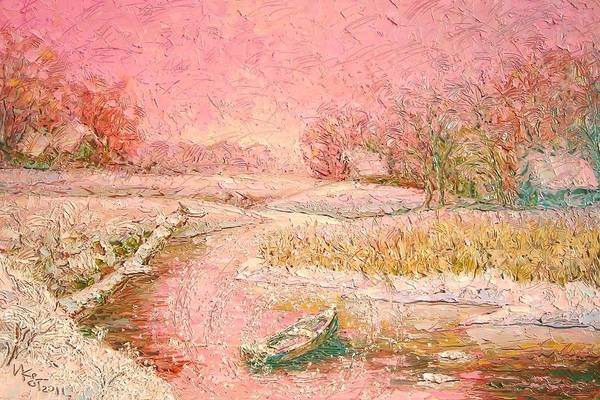 Russian Impressionism Wall Art - Painting - Winter Dream. Russian Cruise. 2011 by Ivan KRUTOYAROV