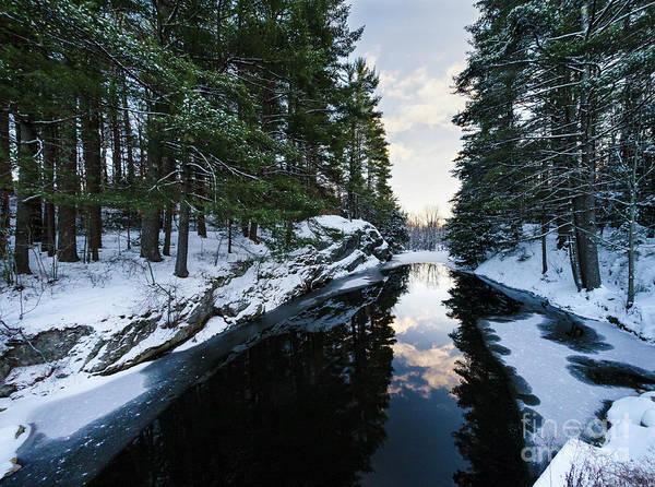 Photograph - Winter, Durham, Maine #10542 by John Bald
