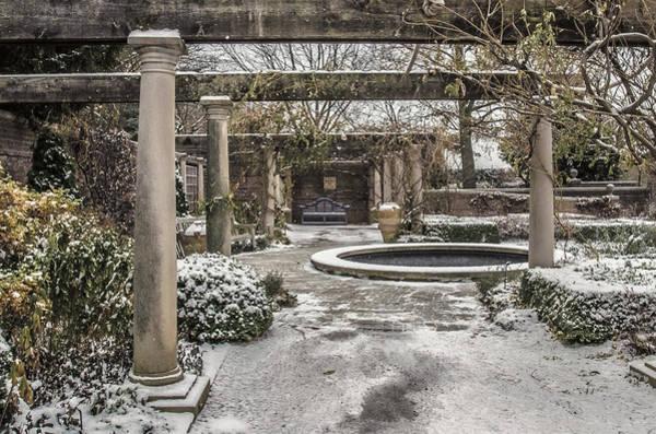 Chicago Botanic Garden Photograph - Winter English Walled Garden by Julie Palencia