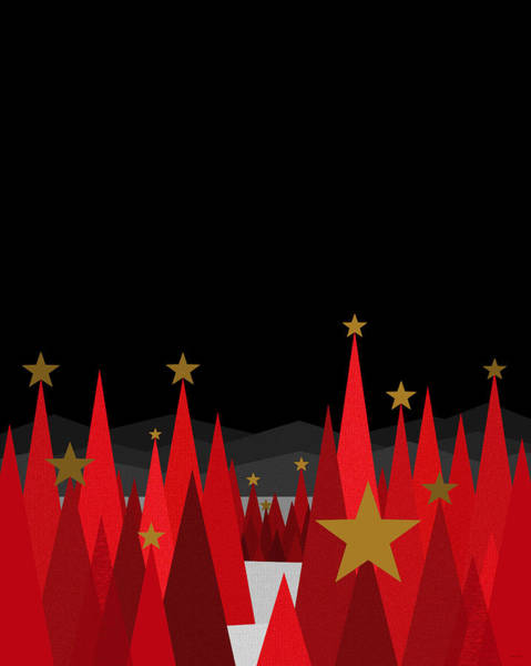 Wall Art - Digital Art - Winter Eve Stars by Val Arie